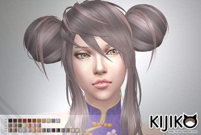 Panda Lan Lan Hair Ts4 Edition At Kijiko 187 Sims 4 Updates