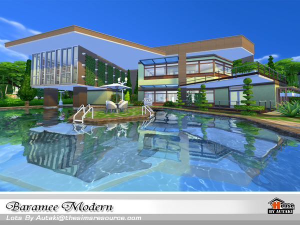 Baramee Modern house by autaki at TSR image 67 Sims 4 Updates
