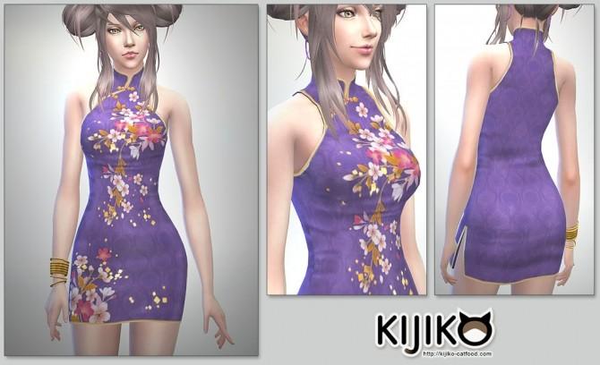Sims 4 Cheongsam Dress at Kijiko