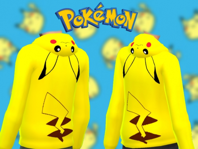 Pikachu Hoodie By Mhmattman At Mod The Sims 187 Sims 4 Updates