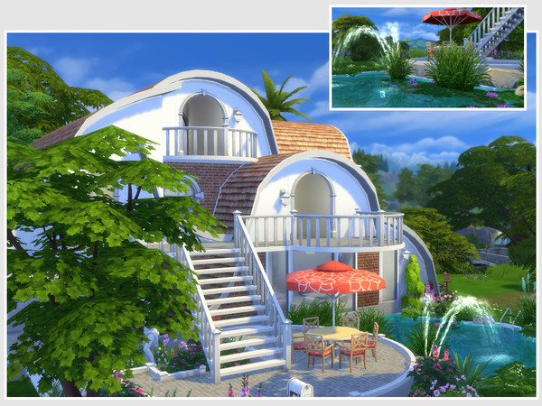 Strawberry house No CC by philo at TSR image 674 Sims 4 Updates
