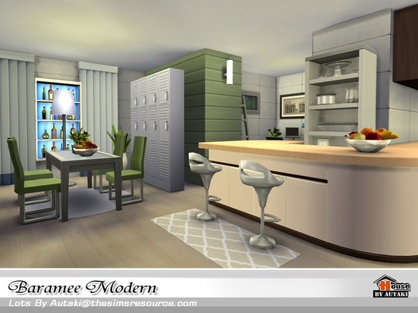 Baramee Modern house by autaki at TSR image 68 Sims 4 Updates