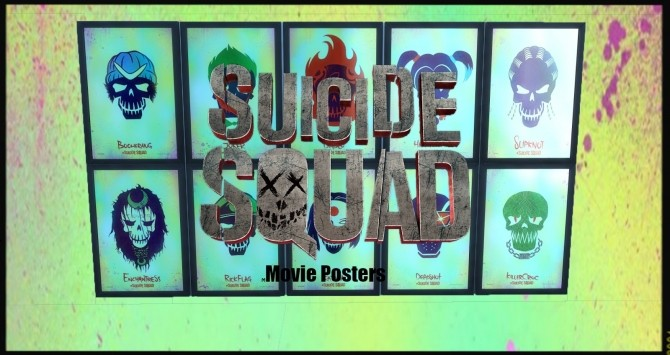 Sims 4 Suicide Squad Movie Posters at RaRa SIMS