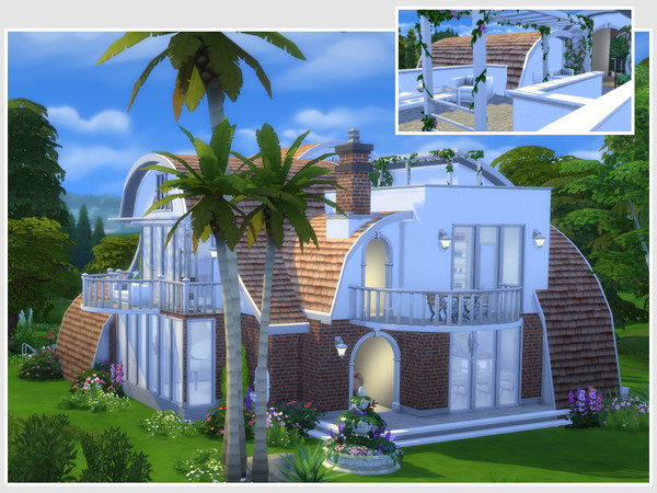 Sims 4 Strawberry house No CC by philo at TSR