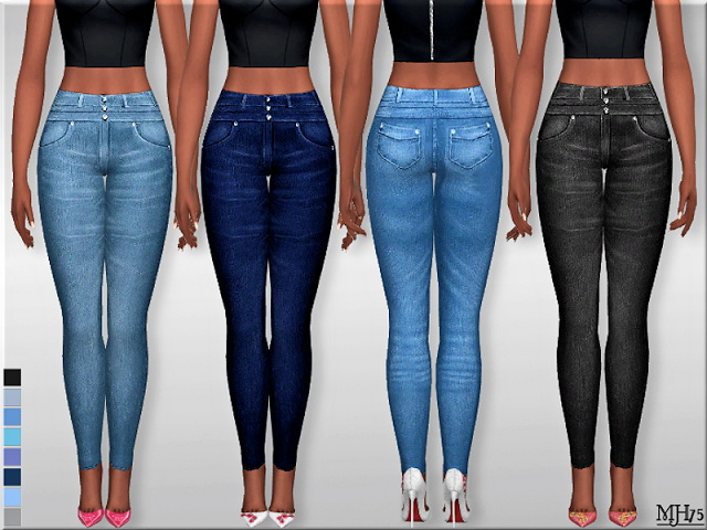 Sims 4 High Waist Skinny Jeans 2 by Margeh75 at Sims Addictions