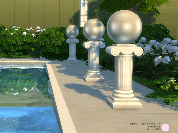 Shining Globe Deco Sculpture Set by DOT at TSR image 699 Sims 4 Updates