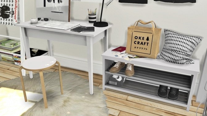 Office Set, Tjusig Hallway and Shoes Deco at MXIMS image 7013 670x377 Sims 4 Updates