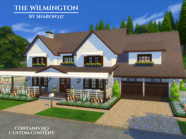The wilmington house by sharon337 at tsr sims 4 updates for Classic house sims 4