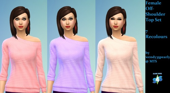 Sims 4 3 Female Recoloured Tops sets by wendy35pearly at Mod The Sims