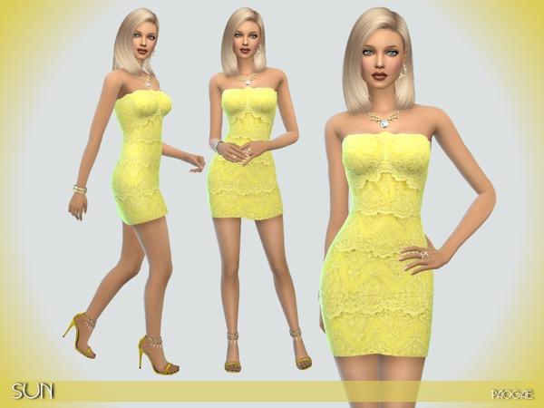 Sims 4 Sun dress by Paogae at TSR