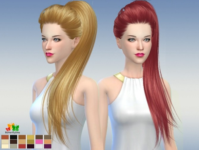 Sims 4 B fly hair af 169 No hat (Free) by YOYO at Butterfly Sims