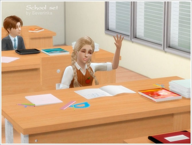 School set 01 at Sims by Severinka image 7412 670x505 Sims 4 Updates