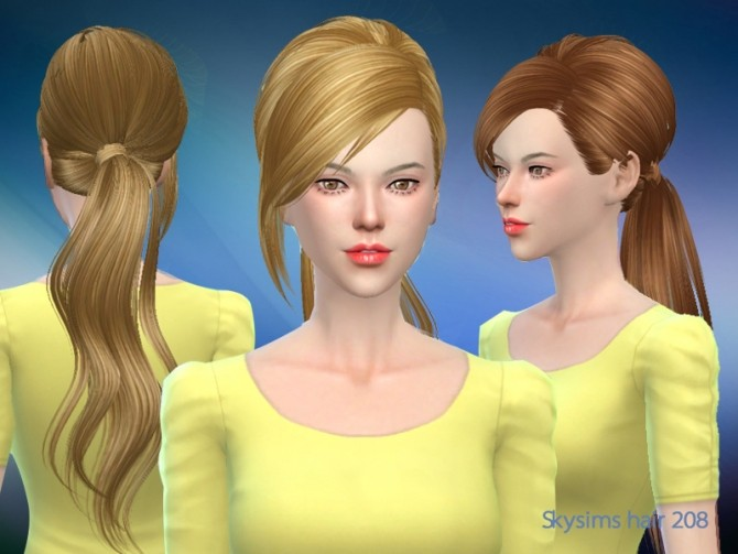 Sims 4 Skysims female hair 288 (Pay) at Butterfly Sims