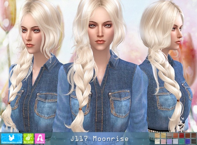 J117 Moonrise hair (Pay) at Newsea Sims 4 image 768 670x491 Sims 4 Updates