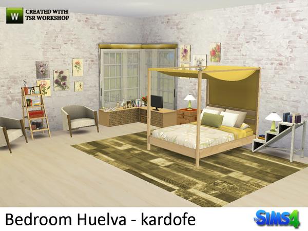 Bedroom Huelva by kardofe at TSR image 8 Sims 4 Updates