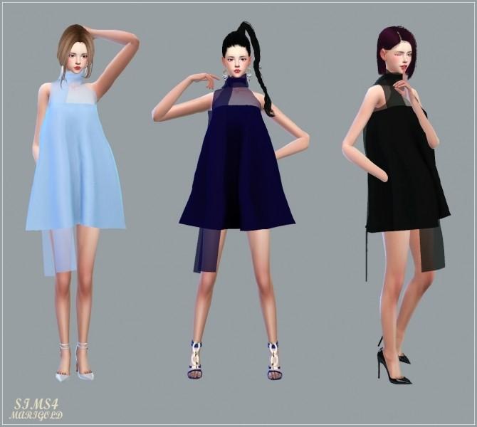 Sims 4 Chiffon Mini Dress With Scarf at Marigold