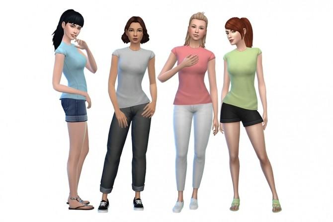 Sims 4 Deetrons Void Critter Shirt Recolors by deelitefulsimmer at SimsWorkshop