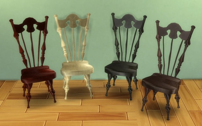 Sims 4 (Veritas) AMR Mad Hatter Chair by BigUglyHag at Mod The Sims