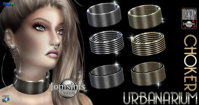 Sims 4 Urbanarium choker at Jomsims Creations