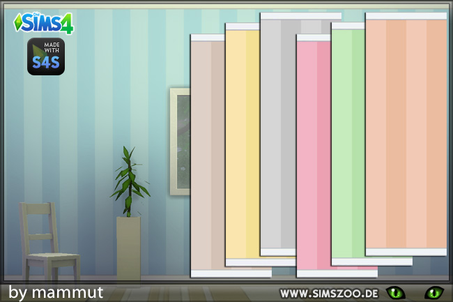 Pastel stripes wall by mammut at Blacky's Sims Zoo image 879 Sims 4 Updates