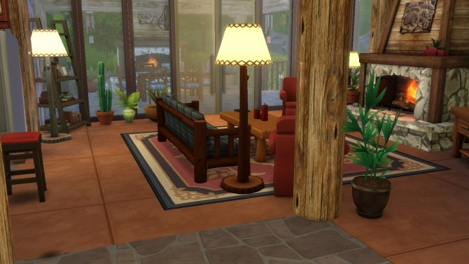 Sims 4 Forest River house CC Version by Sortyero29 at Mod The Sims