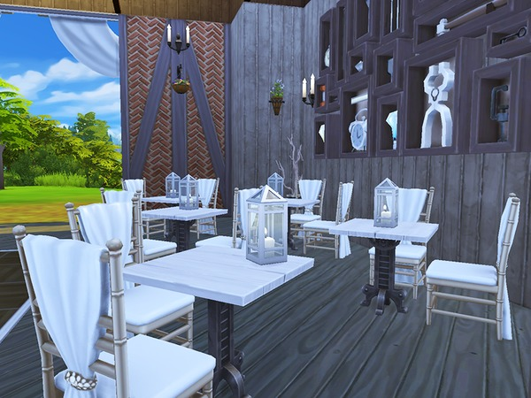 Sims 4 Birch Farms Wedding Venue by periwinkles at TSR