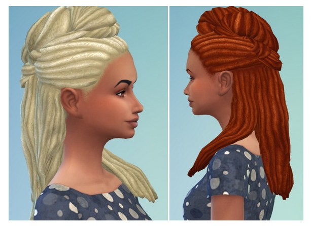 Sims 4 High Twisted Dreads at Birksches Sims Blog