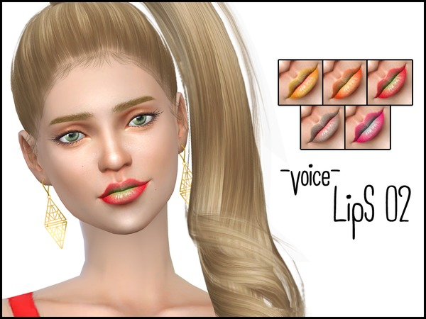 Sims 4 Voice Lips 02 by lancangzuo114 at TSR