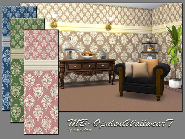 Sims 4 MB Opulent Wallwear T Set by matomibotaki at TSR