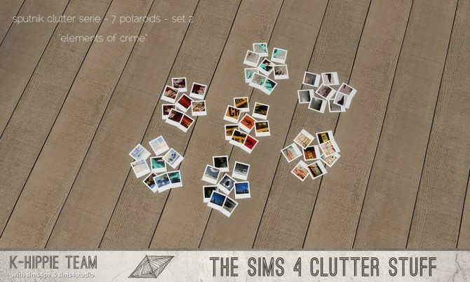 Sims 4 K Clutter Sputnik 7 Polaroids set 2 at K hippie