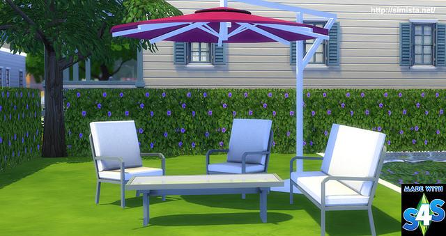 Sims 4 Free Standing Umbrella at Simista