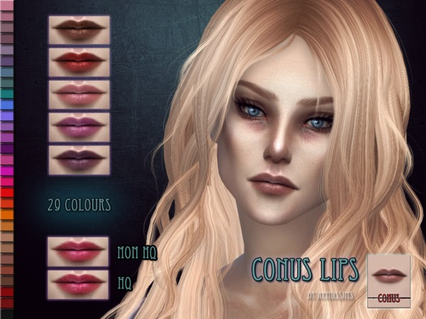 Sims 4 Conus Lipstick by RemusSirion at TSR