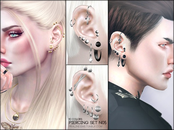 Sims 4 facial piercings