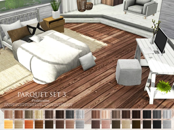 Parquet Set 3 by Pralinesims at TSR image 997 Sims 4 Updates