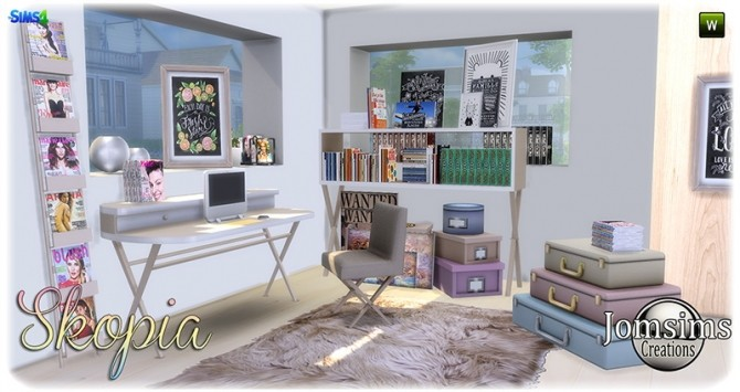 Skopia office at Jomsims Creations image 1007 670x355 Sims 4 Updates