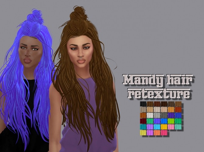 Sims 4 Mandy Hair Ethnic Retexture at Maimouth Sims4