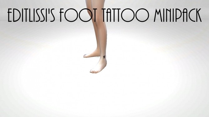 Foot Tattoo Pack of Three Star, Love Heart and Rose by Editlissi at Mod The Sims image 1031 670x377 Sims 4 Updates