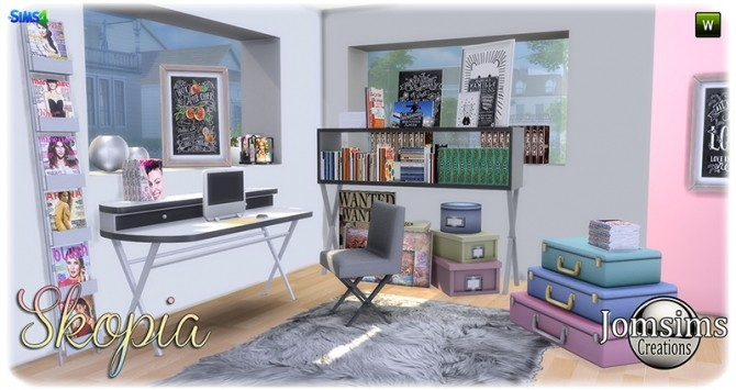 Skopia office at Jomsims Creations image 1035 670x355 Sims 4 Updates