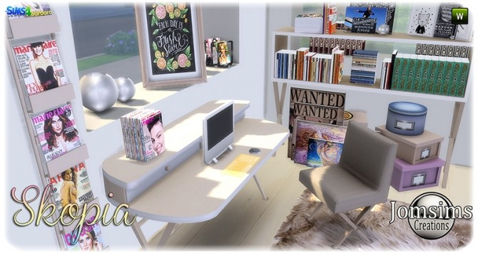 Skopia office at Jomsims Creations image 1046 670x355 Sims 4 Updates