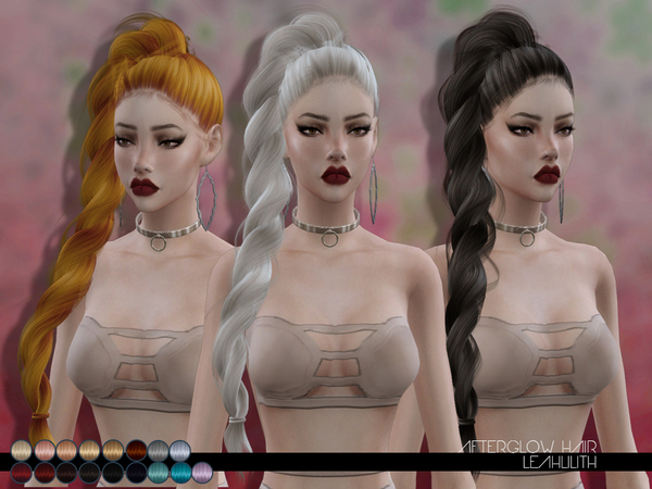 Afterglow Hair by LeahLillith at TSR image 106 Sims 4 Updates
