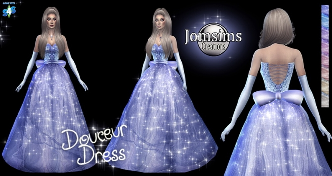 Douceur Princess Dress At Jomsims Creations 187 Sims 4 Updates
