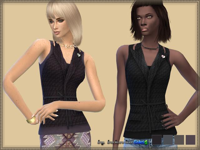 Sims 4 Shirt Vests at Bukovka