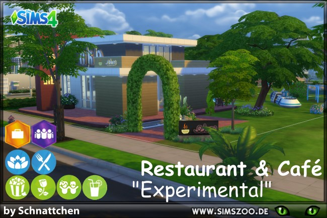 Sims 4 Experimental Restaurant by Schnattchen at Blacky's Sims Zoo
