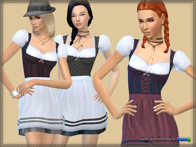 Sims 4 Oktoberfest dress at Bukovka