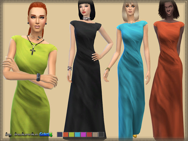 Sims 4 Dress Aphrodite 2 at Bukovka