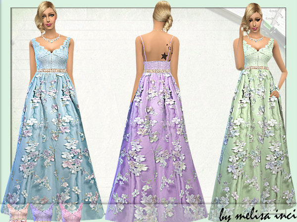 Lace Bridal Gown by melisa inci at TSR image 1103 Sims 4 Updates