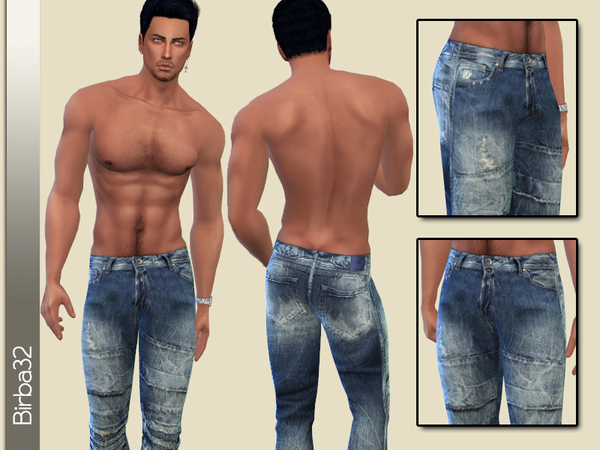 Sims 4 Worn Jeans for man by Birba32 at TSR