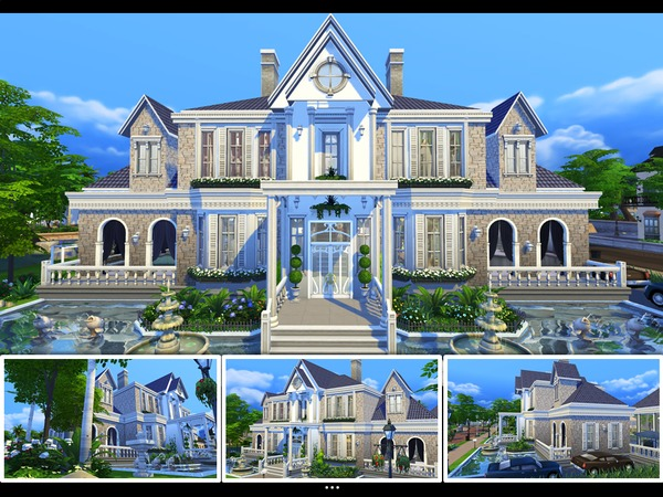 Sims 4 Villa Agatha by mlpermalino at TSR