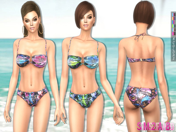 Sims 4 218 Swimsuit set by sims2fanbg at TSR
