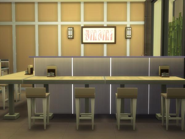 Japanese Restaurant 30x20 by hiyohiyo at TSR image 1128 Sims 4 Updates